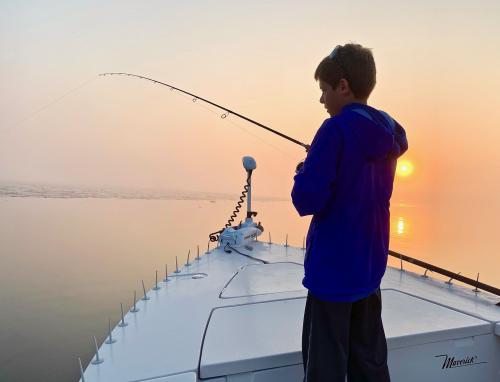Magical Morning Kennebec Striper Fishing